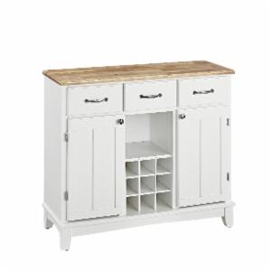 Home Styles Large Wood Server Kitchen Island With Wine Rack