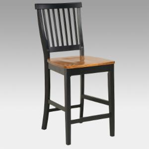 Home Styles Black Counter Stool With Oak Finished Seat