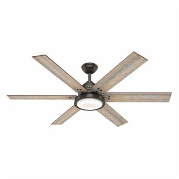 Hunter Warrant 60 in. Reversible Blade Indoor Ceiling Fan with LED Light Kit