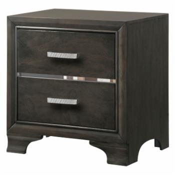 Hodedah Imports Paxton 2-Drawer Night Stand