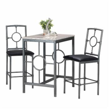 Home Source Industries Regant 3 Piece Counter Height Dining Table Set
