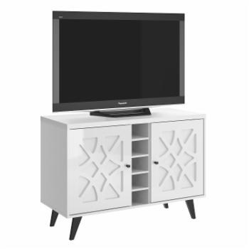 Home Source Industries Mid-Century Modern TV Stand - White