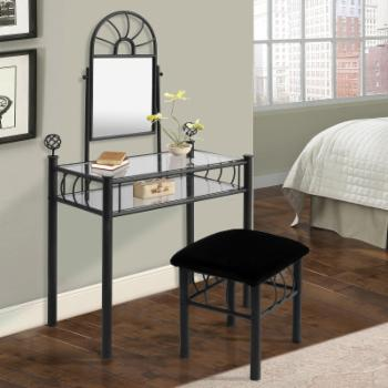 Home Source Industries Vanity and Upholstered Bench