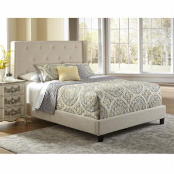 Right2Home Upholstered Shelter Low Profile Bed - Queen