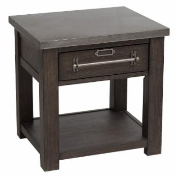 Right2Home Dark Oak Single Drawer Side Table