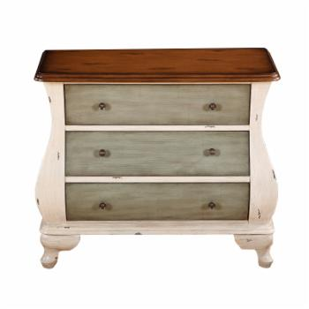 HomeFare Coastal Inspired Accent Bombe Chest