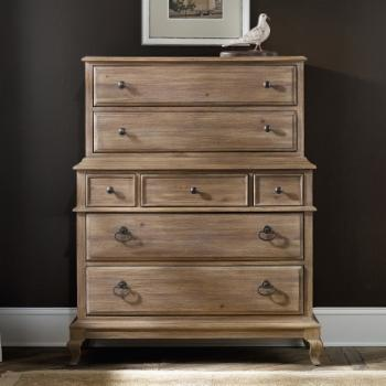 Hooker Furniture Corsica 7 Drawer Chest - Wire Brushed Artisan