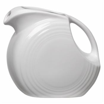 Fiesta White Large Disc Pitcher 67.25 oz.