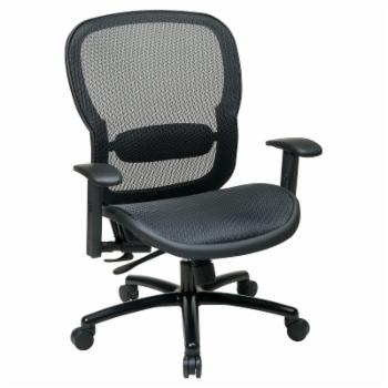 Space Seating Mesh Back Office Chair - Black