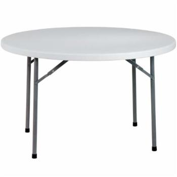 Office Star Products 5 ft. Round Multi Purpose Folding Table - White