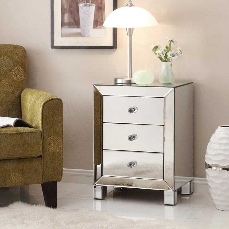Ave Six Reflections 3 Drawer Accent Table