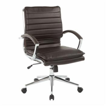 Pro-Line II Mid Back Managers Faux Leather Office Chair