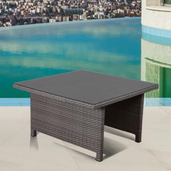 Atlantic Bellagio Wicker Patio Low Dining Table