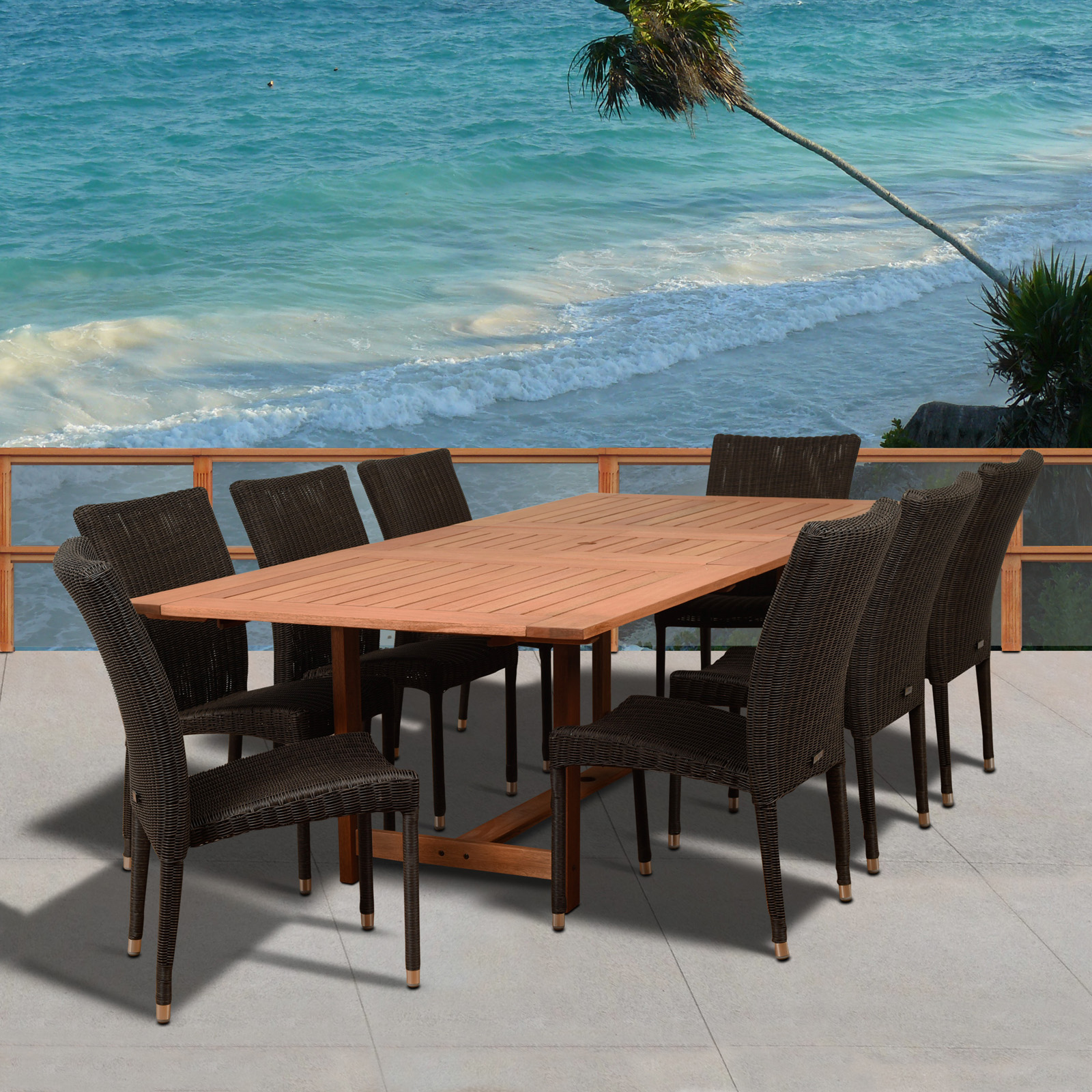Belham Living Brighton Outdoor Patio Dining Set with Directors ...