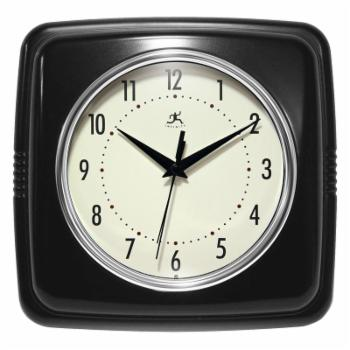 Infinity Instruments 9 Square Retro 9W x 9H in. Wall Clock