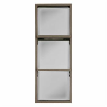Mirrorize Canada Stained Wood Mirror with 2 Shelves - 13W x 37H in.