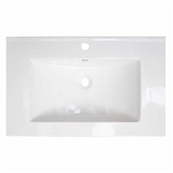 American Imaginations 279 Flair 23.75 in. Ceramic Vanity Top with Optional Faucet