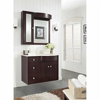 American Imaginations Tiffany Series 36 in. Wall Mounted Right Facing Single Sink Bathroom Vanity