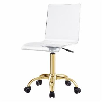 Inspired Home Davion Clear Acrylic Office Task Chair