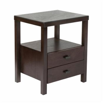 East At Main Westwood Acacia Wood Square Accent Table