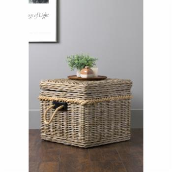 East At Main Lawton Rattan Square Storage Trunk