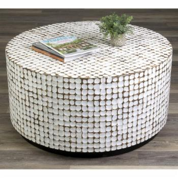 East At Main Silvia Coconut Shell Coffee Table