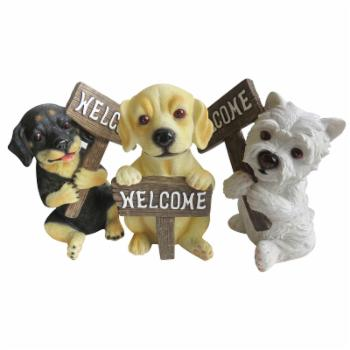 Alpine Corporation Welcome Dog Statuary Assorted Styles