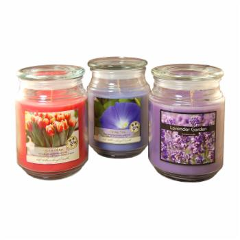 Lumabase Floral Collection Mason Jars with Scented Candles