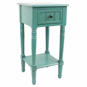 Decor Therapy Simplify One Drawer Square Accent Table