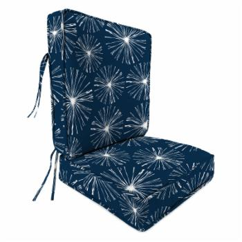 Jordan Manufacturing 2 Piece Deep Seat Outdoor Chair Cushion - Sparks