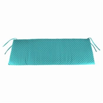 Jordan Manufacturing Outdoor Bench Cushion with Ties - Mini Dots