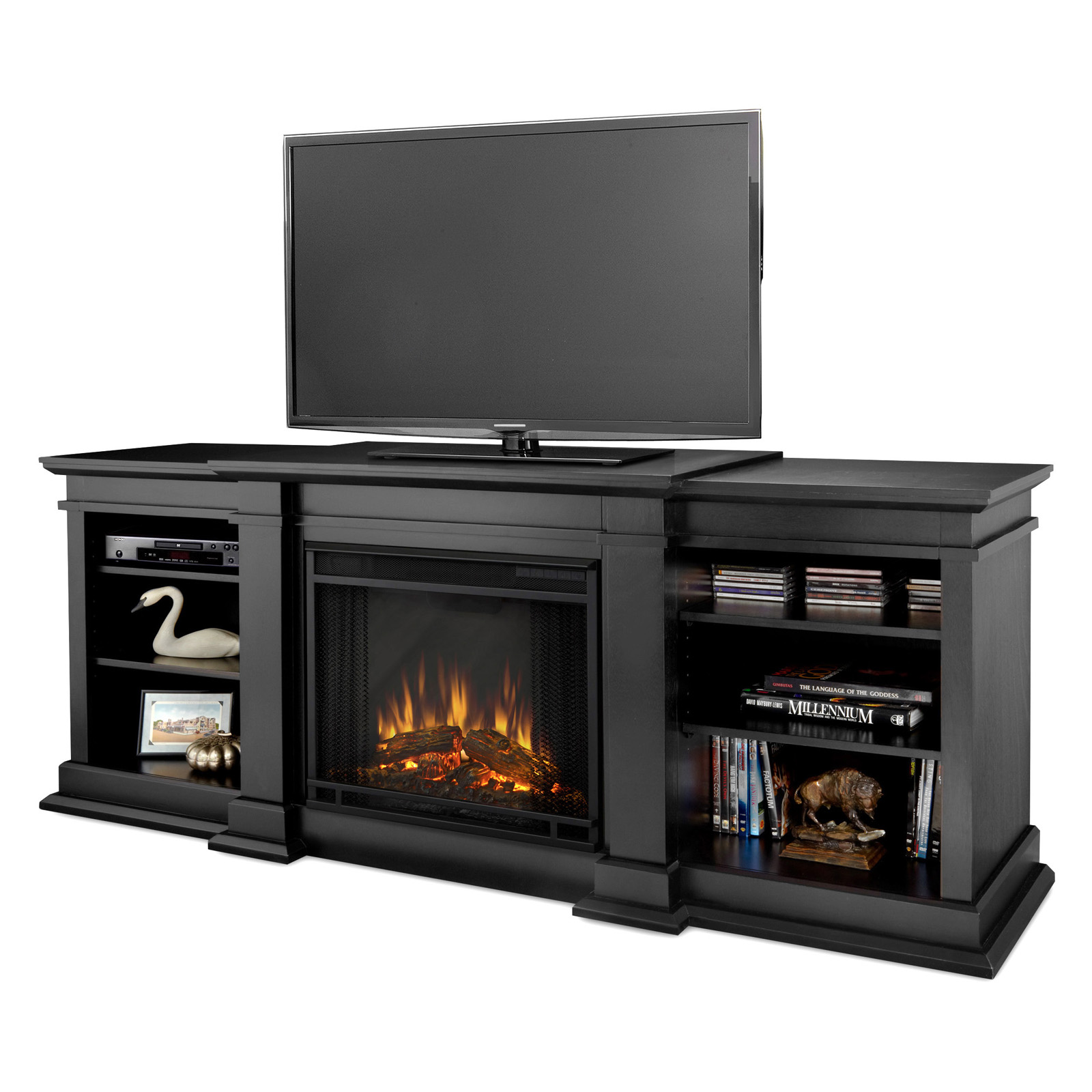 real flame fresno electric fireplace black hayneedle