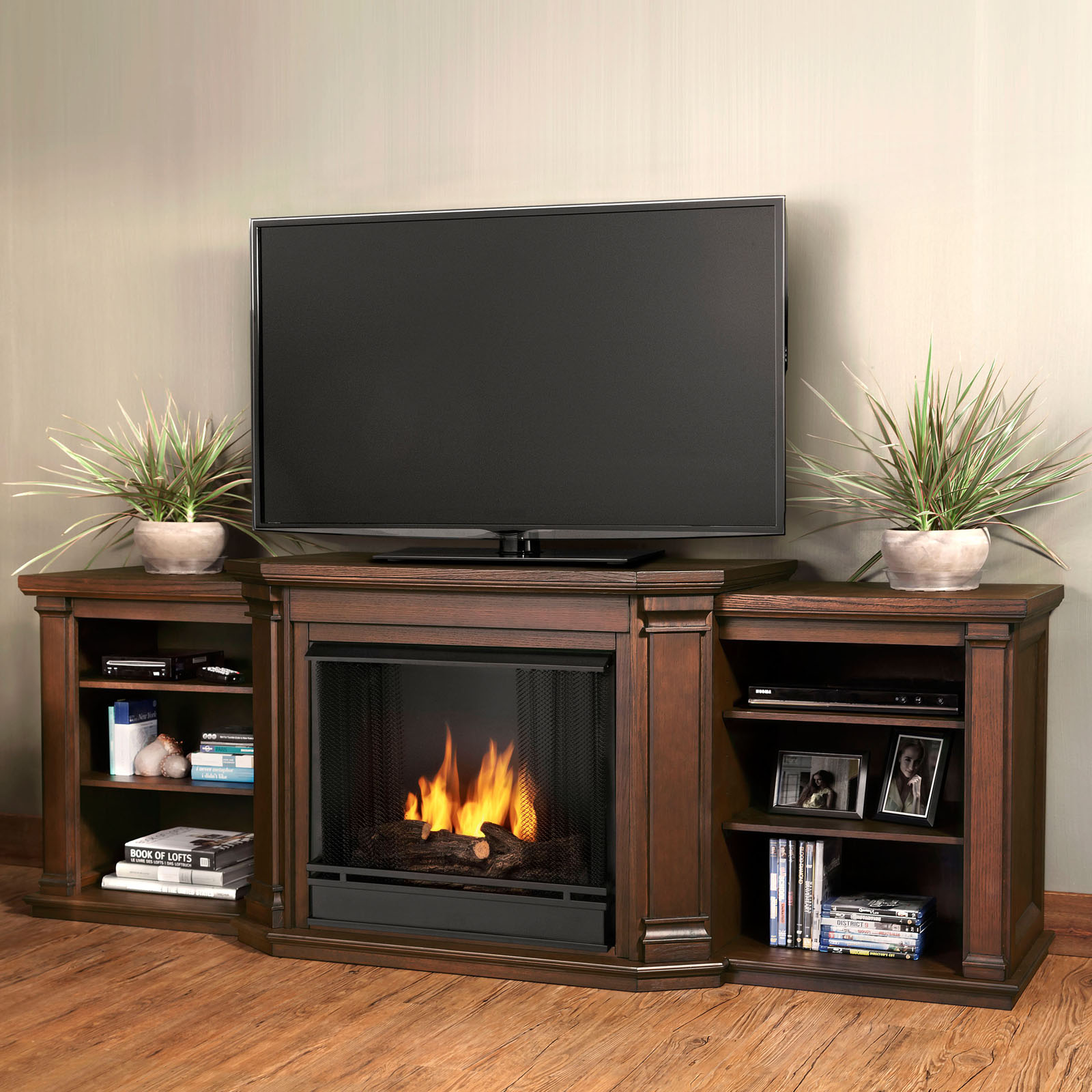 xiorex coventry greenway in stand flat tv fireplaces stands espresso panel muskoka cherry by with fireplace