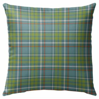Kavka Designs Green Fishing Plaid Outdoor Pillow