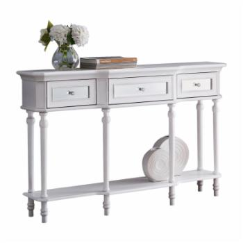 K&B Furniture Traditional 3 Drawer Console Table with 1 Shelf