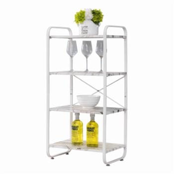 K&B Furniture Transitional 4 Shelf Bakers Rack