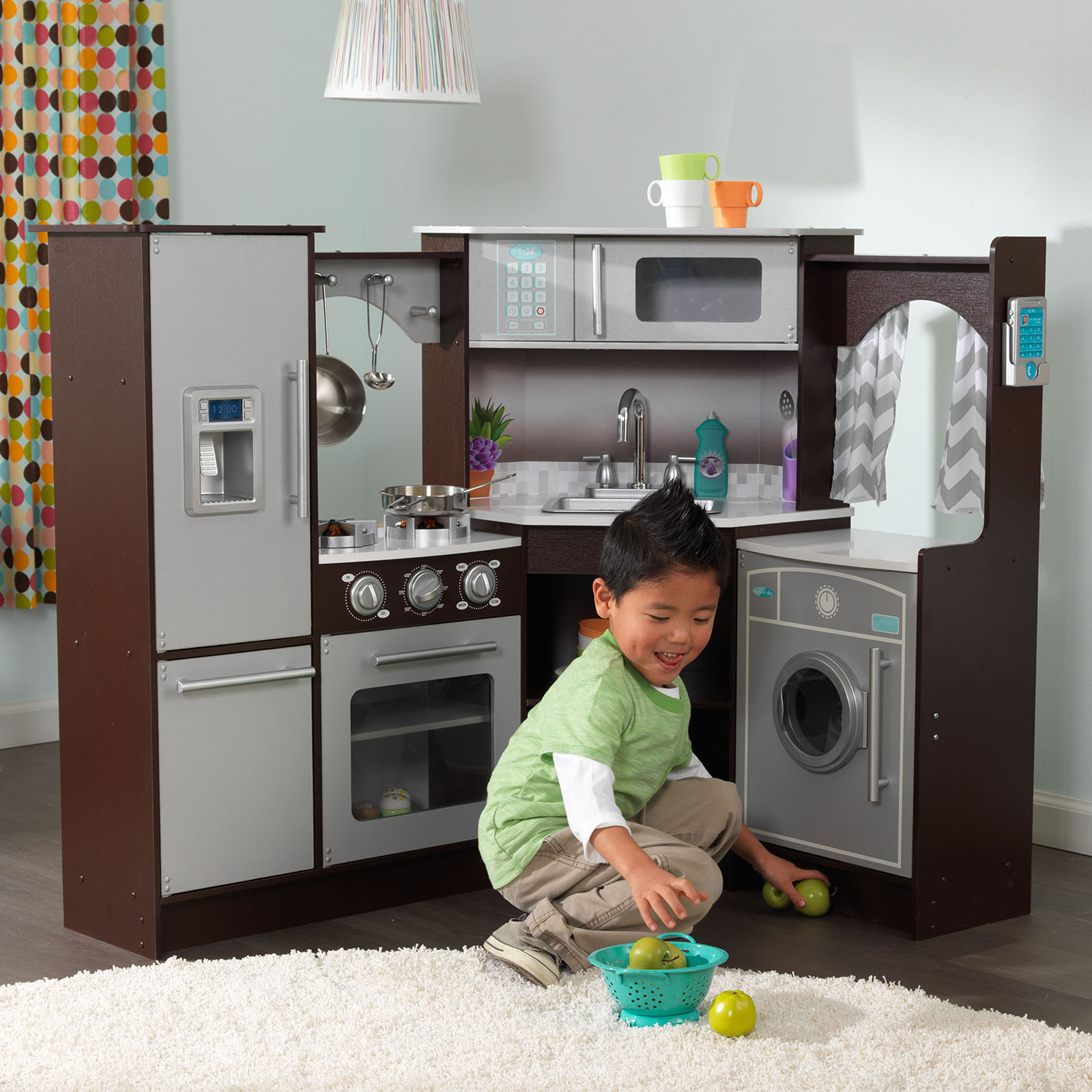 KidKraft Ultimate Corner Play Kitchen With Lights And Sounds Hayneedle - Kidkraft ultimate corner play kitchen with lights and sounds