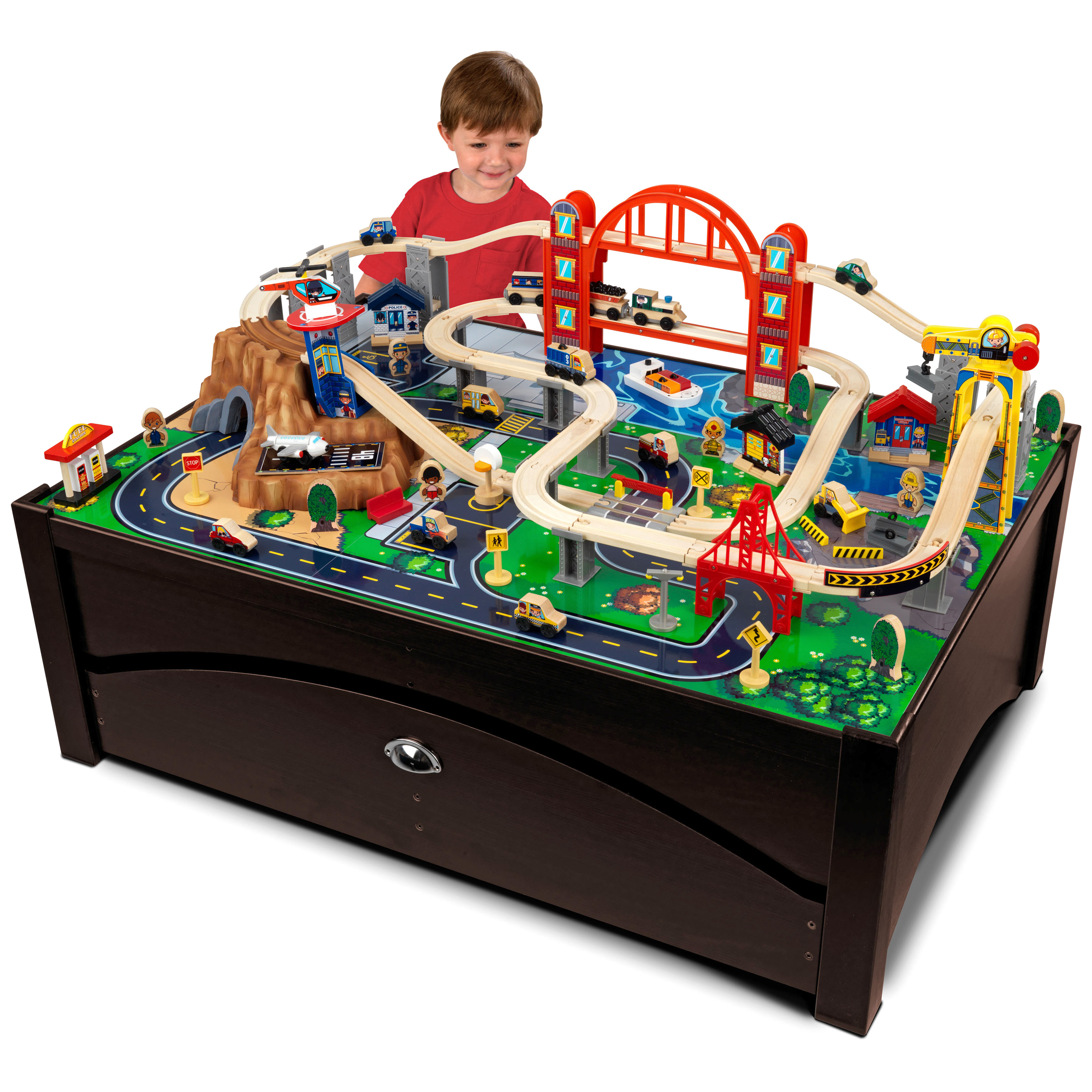 Incroyable KidKraft Waterfall Mountain Train Table And Train Set   17850 | Hayneedle
