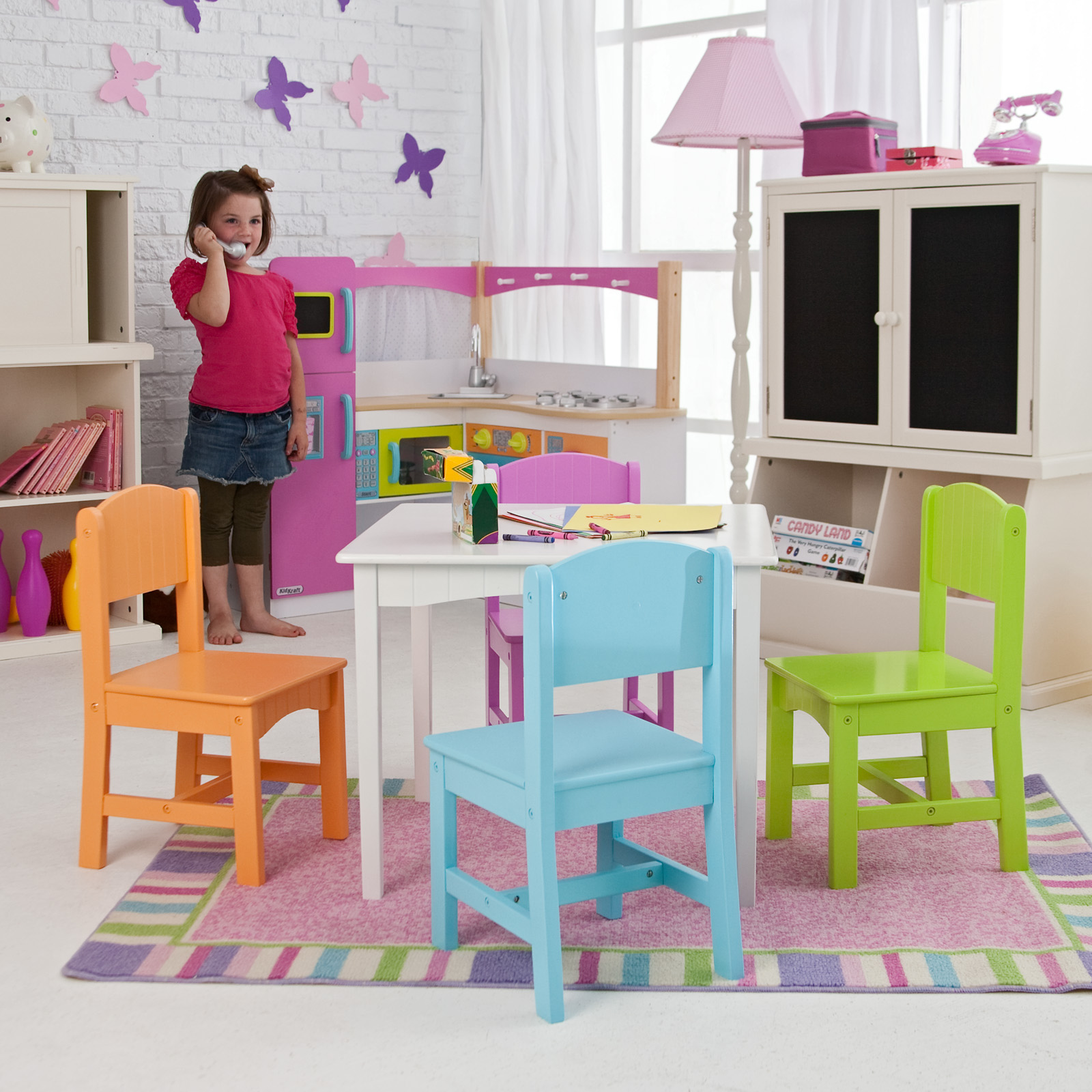 KidKraft Nantucket Big N Bright Table and Chair Set - 26124 | Hayneedle