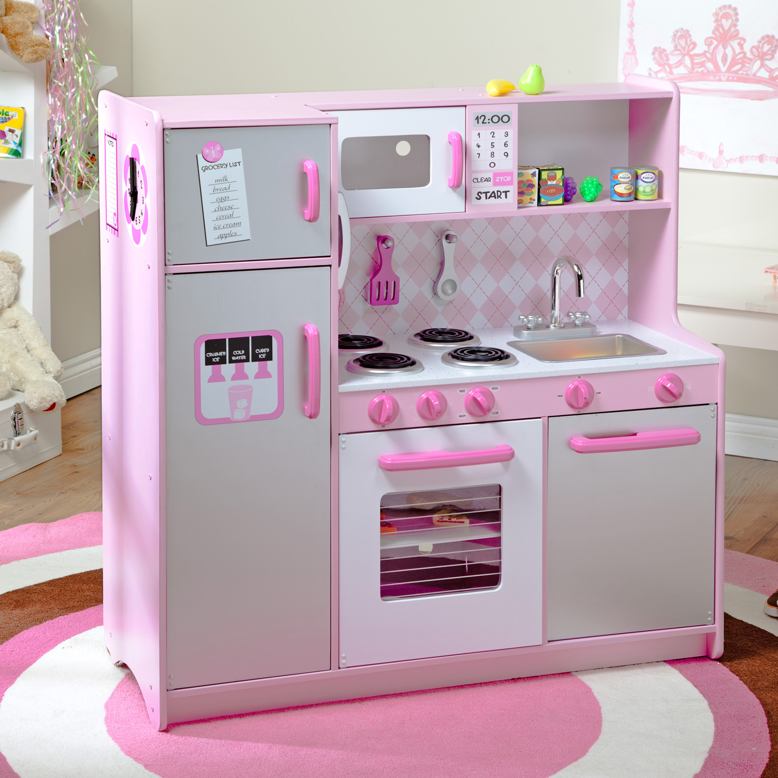 deluxe kitchen play set kids toy bo step2 in play kitchen
