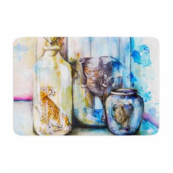 KESS InHouse Kira Crees Bottled Animals Memory Foam Bath Mat