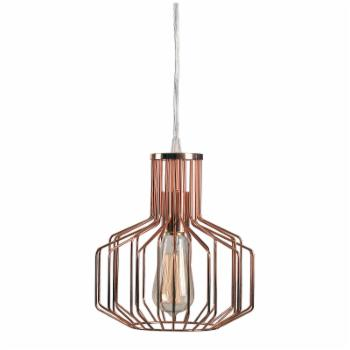 Kenroy Home Irena 93878COP 1 Light Swag Pendant Light