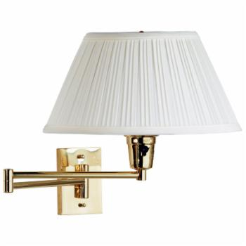 Kenroy Home Element Wall Swing Arm Lamp - 16W in. Polished Brass