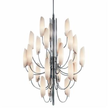 Kichler 42214CH Stella 24-Light Chandelier - 36W in. Silver Finish