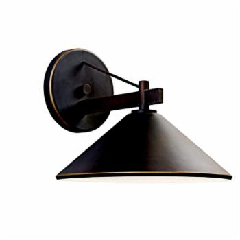 Kichler 49061OZ Ripley 1-Light Outdoor Wall Light - 9.87H in. Bronze