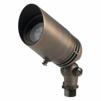 Kichler 15485CBR Brass Fixed Socket Outdoor Accent Light with Adjustable Cowl
