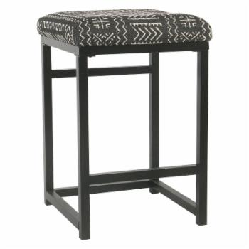HomePop 24 in. Open Back Counter Stool - Onyx