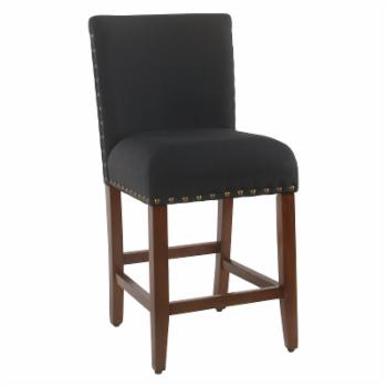 HomePop 24 in. Upholstered Counter Stool