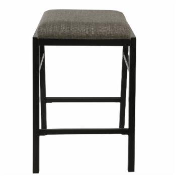 HomePop 24 in. Upholstered Stacking Counter Stool - Set of 2