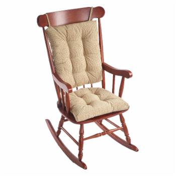 Klear Vu Gripper Outwest Jumbo Universal 2 Piece Rocking Chair Cushion Set